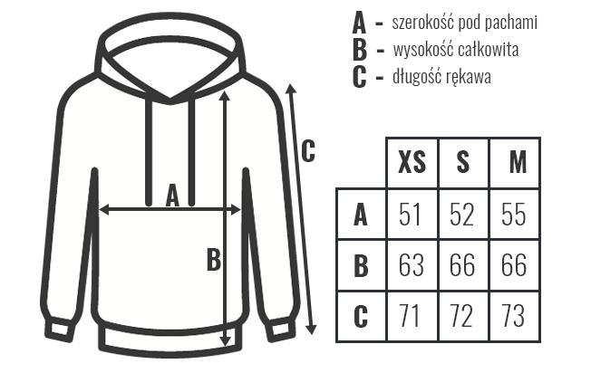 rozmiary bluza kaptur unisex