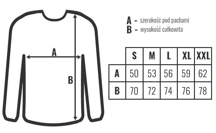 koszulka meska długi rękaw rozmiary