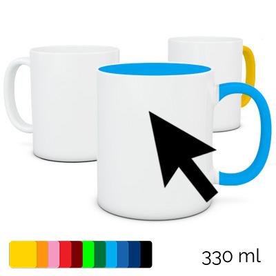 Kubek 330 ml z własnym nadrukiem, różne kolory