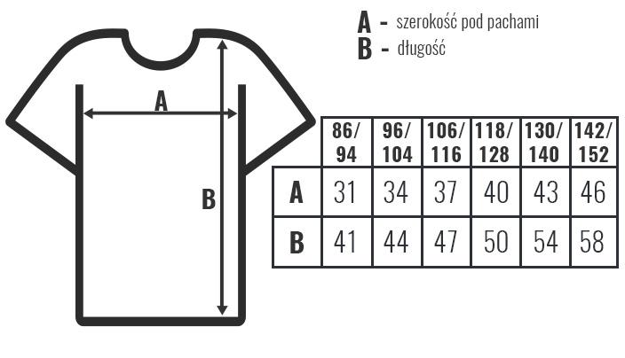 koszulka dziecieca hq rozmiary