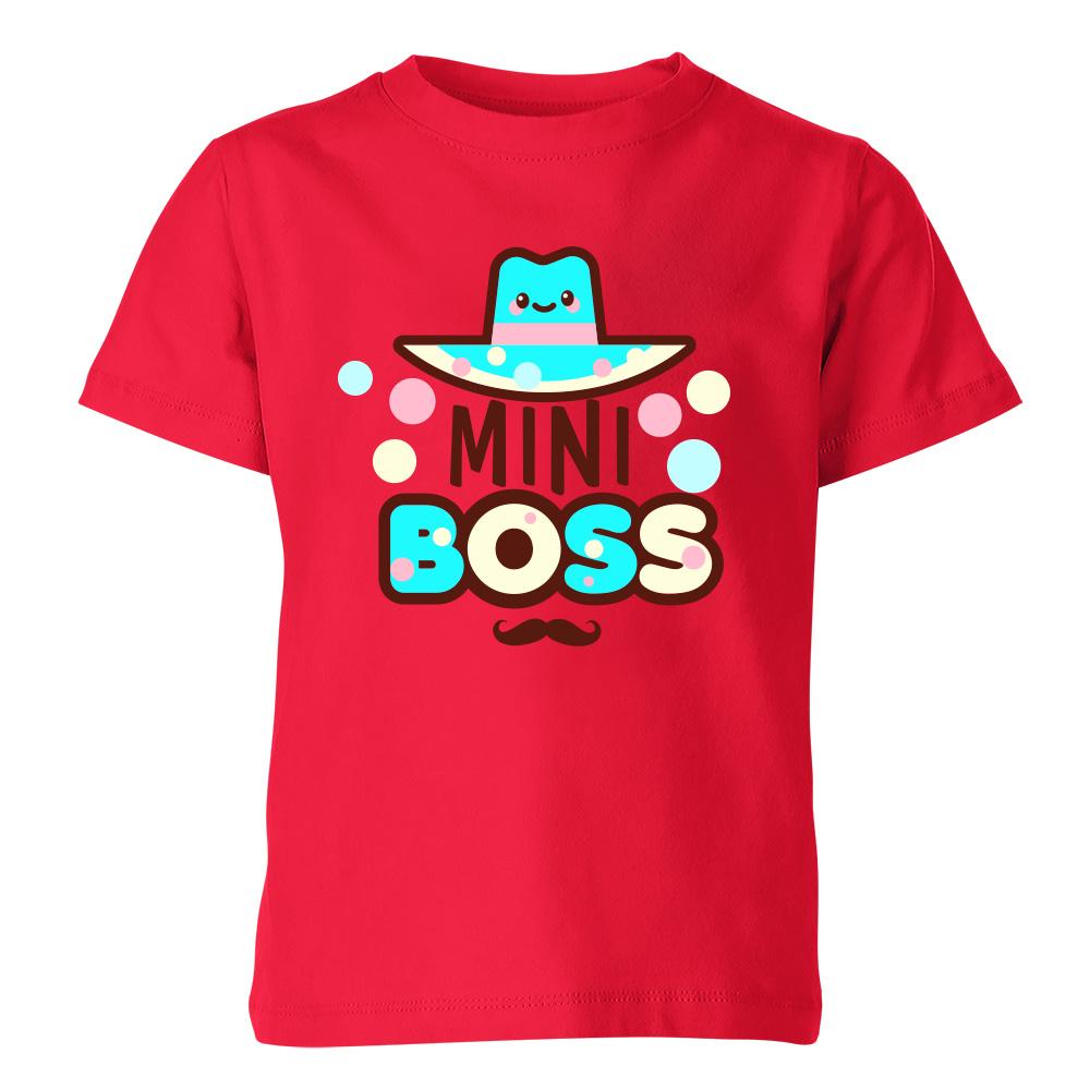 koszulka dziecieca czerwona mini boss 6