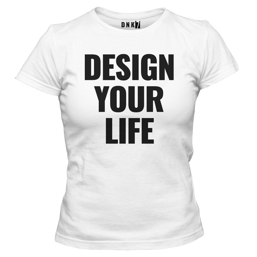 koszulka damska biala design your life