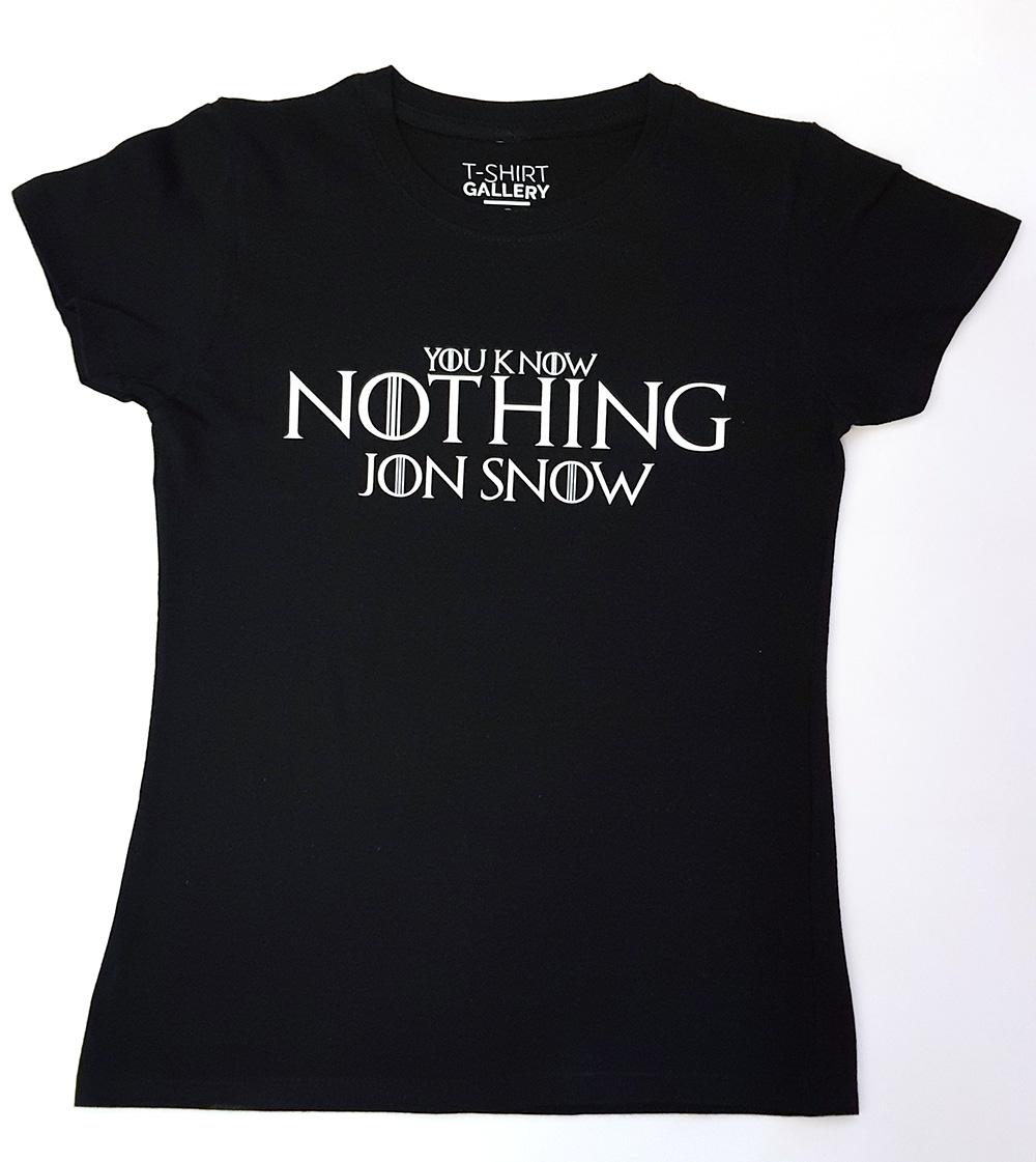0fa3dee1d Koszulka damska YOU KNOW NOTHING, rozm. S - Koszulki z nadrukiem ...